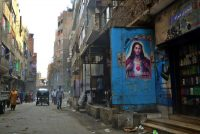 A poster with a portrait of Jesus Christ in Cairo. In parts of the Muslim world, conversions from one religion to another are occurring, including to Christianity, but they don't tend to follow its traditions. Credit Mohamed El-Shahed/Agence France-Presse — Getty Images