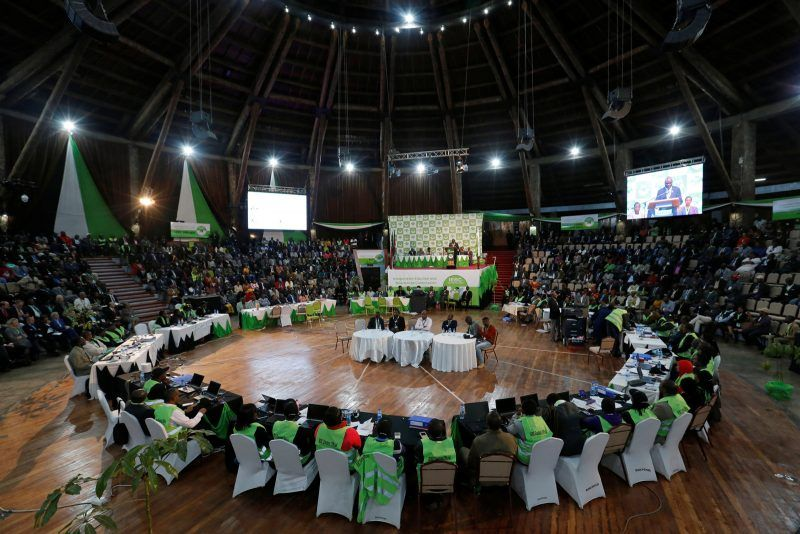 Thomas Mukoya/Reuters. The Kenyan Independent Electoral and Boundaries Commission (IEBC) preparing to announce election results, Nairobi, Kenya, August 11, 2017