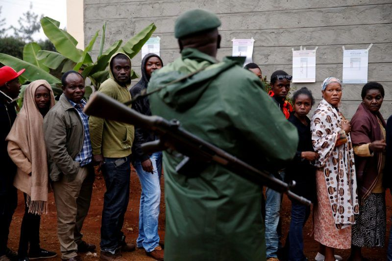 Baz Ratner/TPX/Reuters. Kenyans waiting to vote in the presidential election, Gatundu, Kenya, August 8, 2017