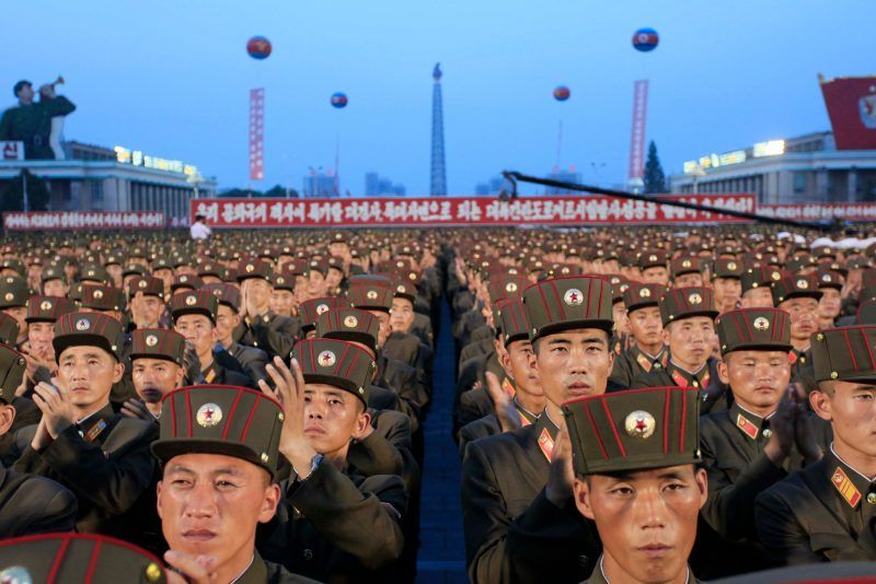 Soldiers gathered this month at Kim Il-sung Square in Pyongyang, North Korea, to celebrate the test launch of North Korea's first intercontinental ballistic missile. Credit Jon Chol Jin/Associated Press