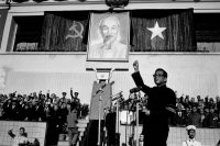 """The North Vietnamese Communist Party leader Le Duan strengthened the """"counter counterrevolutionary"""" campaign to quell dissent against the war. Credit Nehon Denpa News/Associated Press"""