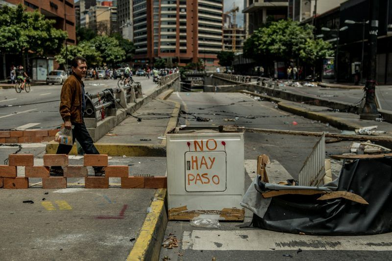 Barricades constructed by protesters who opposed the election last month for a new National Constituent Assembly in Caracas, Venezuela. Meridith Kohut for The New York Times