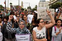 Manifestation à Casablanca suite à l'agression d'une femme dans un bus, le 23 août. Photo AFP