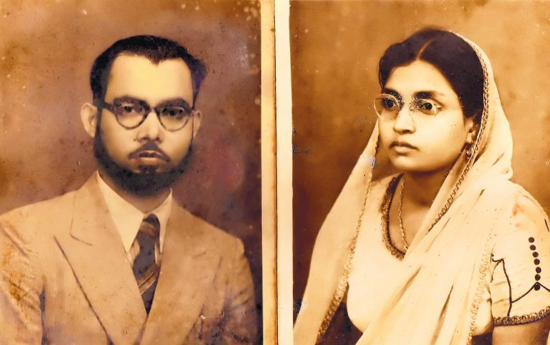 A portrait of the author's grandparents, c. 1950. Credit Courtesy of K. Anis Ahmed