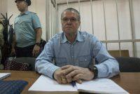 Nikita Shvetsov/Anadolu Agency/Getty Images. Alexei Ulyukaev at Zamoskvoretsky District Court, Moscow, September 7, 2017