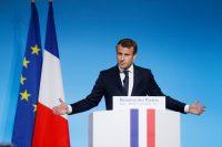 President Emmanuel Macron of France speaking at the Élysée Palace in Paris this week. Credit Pool photo by Etienne Laurent