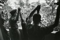 A solidarity rally with United States and South Vietnam officials in Saigon in 1964. Credit Larry Burrows/The LIFE Picture Collection, via Getty Images