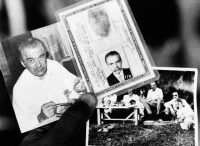 Photographs and the identity card found in the house in Brazil where Josef Mengele lived. Credit Associated Press