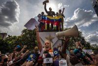 Lilian Tintori se ha vuelto una activista muy combativa desde que Leopoldo López fue encarcelado en febrero de 2014. Credit Meridith Kohut para The New York Times