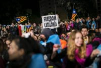 Concentración en favor de la independencia en la Plaza Cataluña (Barcelona), el pasado 1 de Octubre Massimiliano Minocri