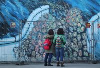 Visitors at a section of the former Berlin Wall. Credit Sean Gallup/Getty Images