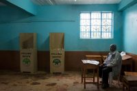 A polling station in Gatundu, Kenya, on Thursday. Calls for a boycott by the leader of the opposition coalition and fears of violence kept many voters away. Credit Kabir Dhanji/European Pressphoto Agency