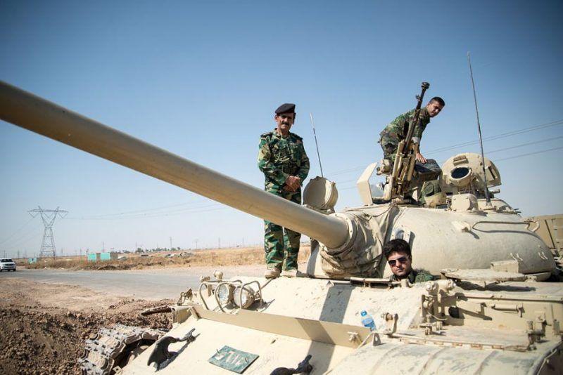 Peshmerga forces outside Kirkuk in 2014. Photo credits: By Boris Niehaus
