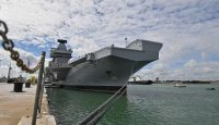 Concerns were raised about the cyber vulnerability of the new HMS Queen Elizabeth. Photo: Getty Images.