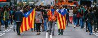 Une manifestation d'indépendantistes à Barcelone le 17 octobre 2017. © Enric Fontcuberta/Keystone