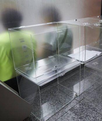 Urnas en el interior de la Asamblea Nacional Catalana (ANC) para el referéndum del 1 de octubre. ALEJANDRO GARCÍA EFE