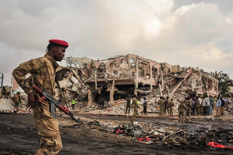The scene of a truck explosion in Mogadishu, Somalia, this month that killed more than 400 people. Credit Mohamed Abdiwahab/Agence France-Presse — Getty Images