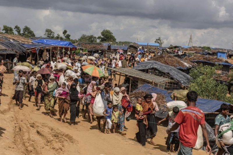 Rohingya refugees describe Myanmar's military as beating, sexually assaulting and shooting villagers, including children. (Ismail Ferdous/Bloomberg News)