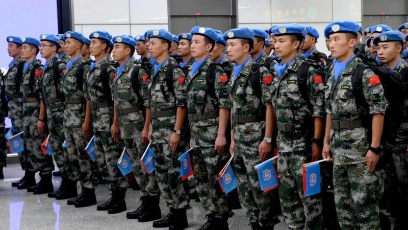 Chinese peacekeepers attend a ceremony in Zhengzhou before leaving for South Sudan on September 21 on a one-year mission. Photo: Xinhua