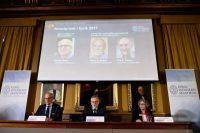 Presentación del Nobel de Física en 2017. / Jonathan NACKSTRAND (AFP )