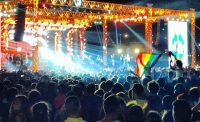 Fans of the Lebanese indie-rock band Mashrou' Leila waving a rainbow flag during a performance in Cairo on Sept. 22. Credit Benno Schwinghammer/Picture-Alliance, via Associated Press