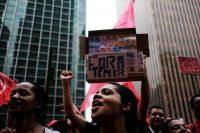 Une manifestation anti-Temer, à Sao Paulo, le 25 octobre. Photo Nacho Doce. Reuters.