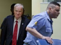 Ratko Mladic arriving to hear the verdict in his war crimes trial at International Criminal Tribunal for the Former Yugoslavia in The Hague on Wednesday. Credit Peter Dejong/Agence France-Presse — Getty Images