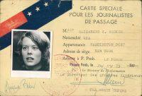 Elizabeth Becker's press card