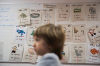 """More than 300 teachers in France said they would no longer teach the rule that """"the masculine prevails over the feminine"""" when it came to plural nouns. Credit Martin Bureau/Agence France-Presse — Getty Images"""