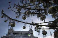 Rome's official Christmas tree, nicknamed Spelacchio, or Mangy, is estimated to have cost Italian taxpayers 48,000 euros. Credit Massimo Percossi/European Pressphoto Agency