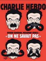 Charlie Hebdo. The Charlie Hebdo cartoon that pilloried Edwy Plenel, editor of the left-wing online news outlet Mediapart, in the wake of accusations against Tariq Ramadan, November 8, 2017
