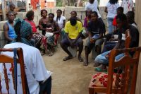 Angolan community members at an HIV/AIDS outreach event in 2006. (USAID/Wikimedia Commons)