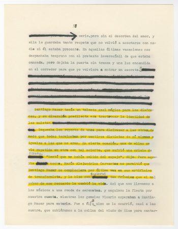 """Una página del borrador de """"Crónica de una muerte anunciada"""" que muestra algunas revisiones hechas por García Márquez. Credit Centro Harry Ransom"""
