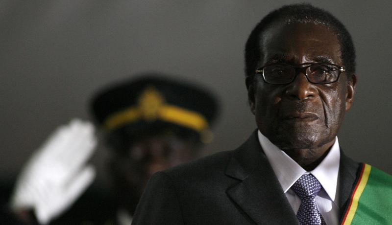 Robert Mugabe is sworn in for another term in 2008. Photo: Getty Images.
