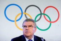 Thomas Bach, president of the International Olympic Committee, speaking to the media about sanctions for Russian athletes. Credit Denis Balibouse/Reuters