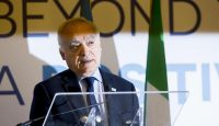 Ghassan Salamé at the Forum MED Mediterranean Dialogues summit in Rome. Photo: Getty Images.