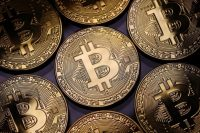 A visual representation of the digital cryptocurrency bitcoin. Cryptocurrencies including bitcoin, ethereum and litecoin have seen unprecedented growth in 2017 — and extreme bouts of volatility. (Getty Images)