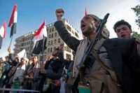 Supporters of Shiite Houthi rebels attend a rally in Sanaa, Yemen, Tuesday, Dec. 5, 2017. The killing of Yemen's ex-President Ali Abdullah Saleh by the country's Shiite rebels, as their alliance crumbled, has thrown the nearly three-year civil war into unpredictable new chaos. (Hani Mohammed/AP)