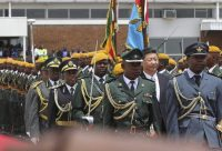 Chinese President Xi Jinping reviews the guard of honour on a state visit to Zimbabwe. Reuters/Philimon Bulawayo