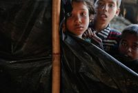 Rohingya children in a refugee camp near Cox's Bazar, Bangladesh, this week. Bangladesh is expected to compile lists of refugees wanting to return to Myanmar on a voluntary basis. Credit Damir Sagolj/Reuters