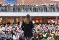 A #MeToo rally in Stockholm in October. Credit Hans Christiansson