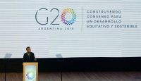 Mauricio Macri at the launch ceremony for Argentina's G20 presidency in Buenos Aires. Photo: Getty Images.