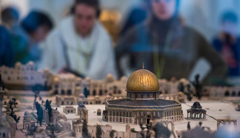 A model of the Dome of the Rock at the Jewish Museum in Berlin. Photo: Getty Images.