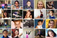 Algunas de las víctimas de Larry Nassar en sus días de gimnasia. Las imágenes fueron provistas por sus familiares y abogados.