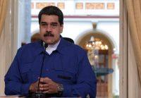 El presidente de Venezuela, Nicolás Maduro, en una reunión con ministros en Caracas el 11 de enero de 2018 Credit Reuters