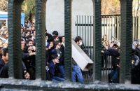 Iranian students and riot police clashed during a protest in Tehran. Credit European Pressphoto Agency