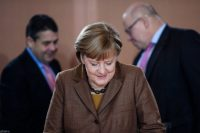Chancellor Angela Merkel at a cabinet meeting in Berlin this week. Credit Clemens Bilan/European Pressphoto Agency