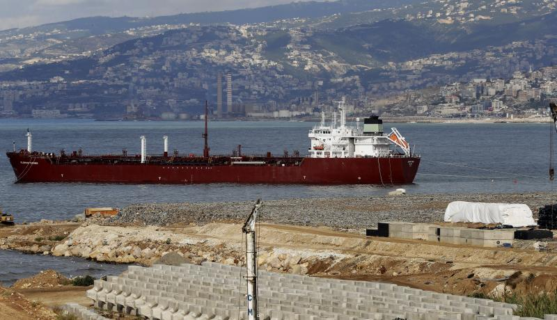 An oil tanker on the outskirts of Beirut. Photo: Getty Images.