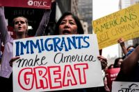 """Una protesta en apoyo a los """"dreamers"""" el 5 de octubre de 2017 Credit Jewel Samad/Agence France-Presse — Getty Images"""