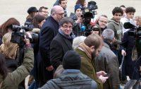 Carles Puigdemont en Bélgica el 12 de enero Credit Virginia Mayo/Associated Press